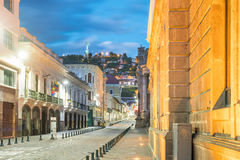 Plaza de San Francisco in old town Quito Stock Image