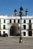 Plaza de San Jose, Aguilar de la Frontera fotografering för bildbyråer