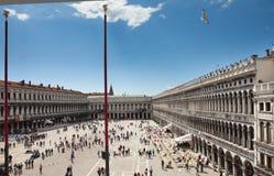 Plaza de San Marcos de Italia del norte, Venecia, imagenes de archivo