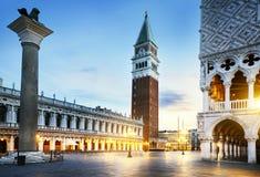 Plaza de San Marcos Venecia Foto de archivo libre de regalías