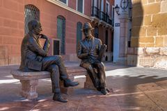 Plaza de San Sebastian en Antequera, Málaga, Andalucía, España fotografía de archivo
