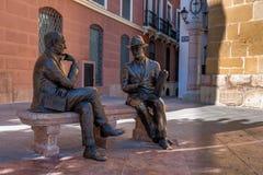 Plaza de San Sebastian i Antequera, Malaga, Andalusia, Spanien arkivbild