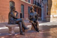 Plaza de San Sebastian i Antequera, Malaga, Andalusia, Spanien royaltyfria bilder