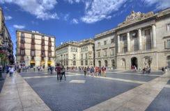 Plaza de Sant Jaume στη Βαρκελώνη Στοκ Φωτογραφία