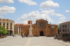 Plaza de Santa Τερέζα de Ιησούς, Avila, Ισπανία Στοκ εικόνες με δικαίωμα ελεύθερης χρήσης