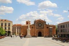 Plaza de Santa Τερέζα de Ιησούς, Avila, Ισπανία Στοκ Εικόνες