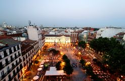 Plaza de Santa Ana  Royalty Free Stock Photo
