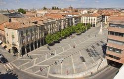 Plaza de Santa Teresa de Jesus in Avila, Spain Royalty Free Stock Images