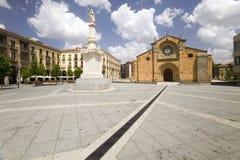 Plaza de Santa Teresa or Square of Santa Teresa in the old Castilian Spanish village of Avila Spain Royalty Free Stock Photography