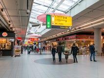 Plaza de Schiphol à l'aéroport d'Amsterdam, Hollande Images libres de droits