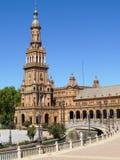 Plaza de Sevilla - de España Fotografía de archivo libre de regalías