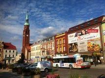 Plaza de Starogard Gdanski Imagen de archivo libre de regalías