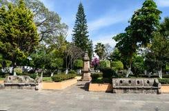 Plaza de Tacambaro Fotos de archivo libres de regalías