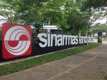 Plaza de terre de Sinarmas photographie stock