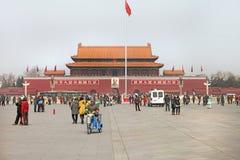 Plaza de Tiananmen de Pekín en China Foto de archivo libre de regalías