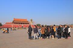 Plaza de Tiananmen Pekín el 27 de septiembre admitido China 2010 Imagenes de archivo