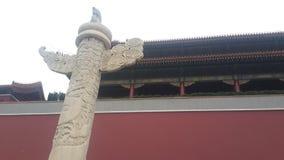 Plaza de Tiananmen poste de la creencia en Pekín, China fotografía de archivo