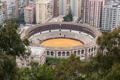 Plaza De Toro Malaga Andalucia, Espanha imagem de stock royalty free
