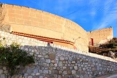 plaza de Toros在Alcala del Jucar,西班牙 图库摄影