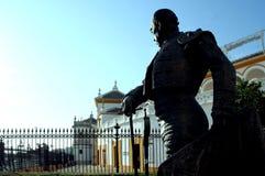 Plaza de Toros - anillo de Bull en Sevilla Imagen de archivo