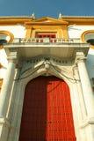 Plaza de Toros - anillo de Bull en Sevilla Fotos de archivo
