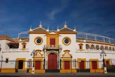Plaza de Toros, (anillo de Bull) Sevilla Imagen de archivo libre de regalías