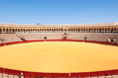 The Plaza de toros - bullfight arena in Seville Stock Photography
