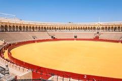 The Plaza de toros - bullfight arena in Seville Royalty Free Stock Photo