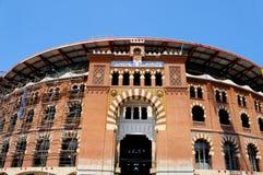 Plaza de toros de Barcelona, España imagen de archivo