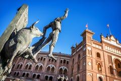 Plaza de Toros de Las Ventas在马德里 免版税库存照片