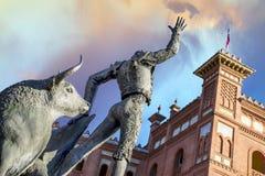 Plaza de Toros de Las Ventas i Madrid Arkivfoto