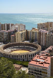 Plaza de toros de Málaga foto de archivo