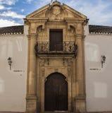 Plaza de toros de Ronda de la puerta principal Foto de archivo