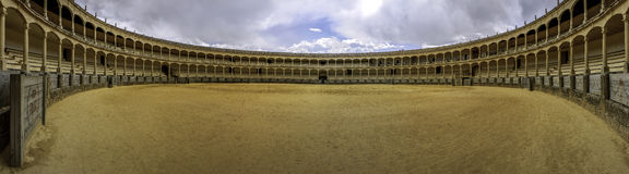 The Plaza de toros de Ronda, the oldest bullfighting ring in Spa Stock Photography