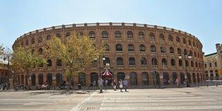 Plaza de toros en Valencia Imágenes de archivo libres de regalías