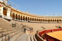 Plaza de Toros i Seville, Spanien Royaltyfria Bilder