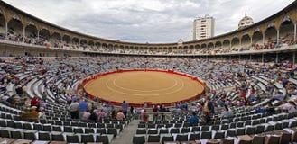 Plaza de Toros Monumental de Barcelona España imagenes de archivo
