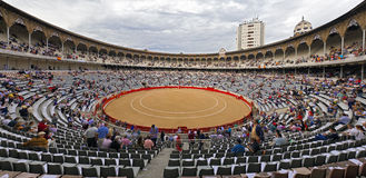 Plaza de Toros Monumental de Barcelona Spain Stock Images