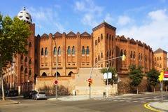 Plaza de toros Monumental en Barcelona fotografía de archivo libre de regalías