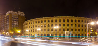 Plaza de toros in night time. Valencia Stock Photography