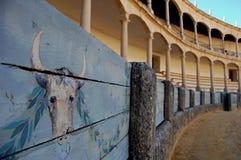 Plaza de Toros Ronda. The bull arena in Spanish town Ronda, the oldest bull arena in Spain Royalty Free Stock Image