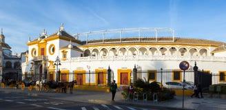 Plaza DE Toros Sevilla Stock Afbeelding