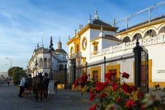 Plaza DE Toros Sevilla, Andalusia Royalty-vrije Stock Foto