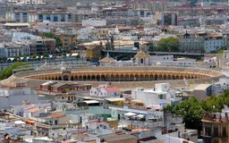 Plaza de toros in Seville, Spain Royalty Free Stock Photo