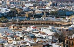 Plaza de Toros, Stierkampfarena, Sevilla Stockbilder