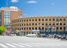 Plaza de toros in Valencia Stock Image