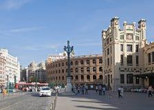 Plaza de Toros y ferrocarril en Valencia Spain Imagen de archivo