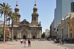Plaza de阿玛斯。圣地亚哥de智利。 免版税库存图片