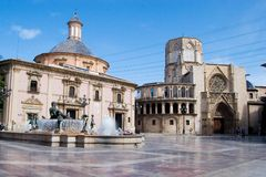 Plaza del al Virgen royalty free stock photos