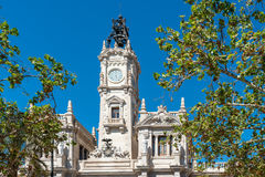 Plaza del Ayuntamiento,巴伦西亚, Spanien 免版税库存照片